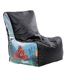 Orka Finding Nemo Digital Printed Bean Chair XL Filled With Beans - Black And Blue