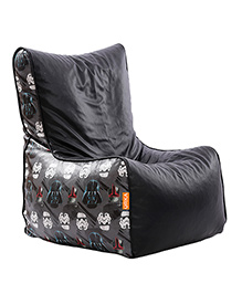 Orka Star Wars Dark Digital Printed Bean Chair XL Filled With Beans - Black