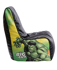 Orka Hulk The Big Guy Digital Printed Bean Chair XL Filled With Beans - Green And Black
