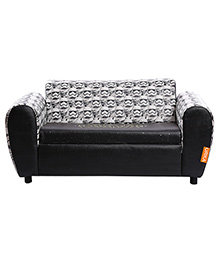 Orka Star Wars Digital Printed Double Seater Sofa With Storage - White And Black