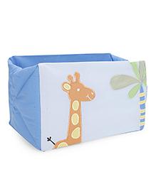 Abracadabra Cot Utility Box Giraffe Print - Blue Orange