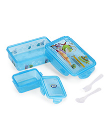 Jewel My Aquarium Print Lunch Box And Sipper Bottle - Blue