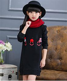 Pre Order - Awabox Thick Fleece Unlined Upper Garment Dress - Black