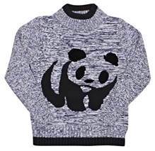 Panda Print Pull Over Sweater