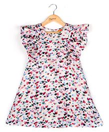 Hugsntugs Heart Print Dress - Multicolor
