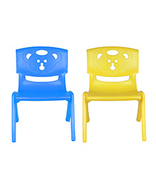 Sunbaby Magic Bear Chair Set Of 2 - Blue & Yellow