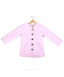 Hugsntugs Front Open Girls Jacket - Pink
