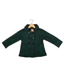 Hugsntugs Front Open Girls Jacket - Green