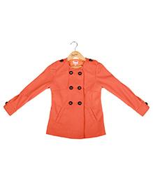 Hugsntugs Front Open Jacket - Orange