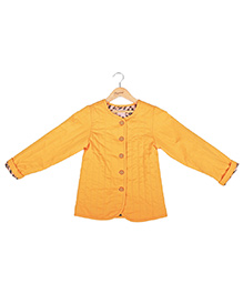 Hugsntugs Front Open Winter Jacket - Yellow
