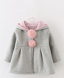 Pre Order - Awabox Bunny Ears Hoddie Style Coat - Grey