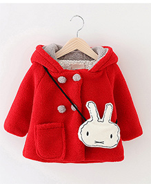 Pre Order - Awabox One Pocket Coat With A Rabbit Sling - Red