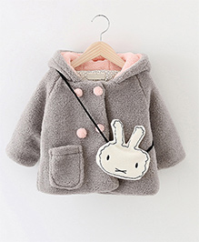 Pre Order - Awabox One Pocket Coat With A Rabbit Sling - Grey
