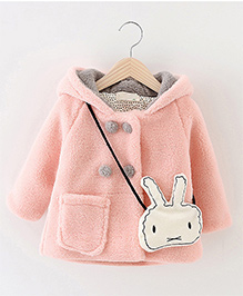 Pre Order - Awabox One Pocket Coat With A Rabbit Sling - Peach