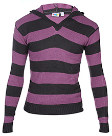 SAPS - Striped Hooded Sweater