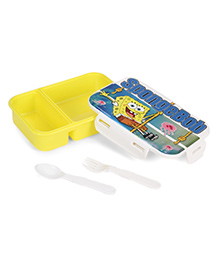 Jewel Smart Lock Big Sponge Bob Print Lunch Box - Yellow White