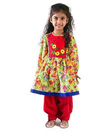 Tiber Taber Rose Suit Set Kurta Salwar - Multicolor
