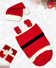 Magic Needles Santa Sleep Sack Cocoon & Cap Set - Red