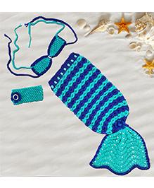 Magic Needles Mermaid Sleep Sack Cocoon - Blue & Sea Green