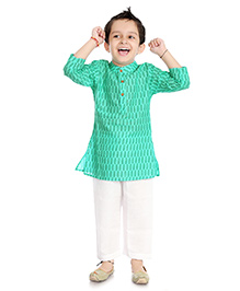 Little Pockets Store Kurta & Pajama Set - Green