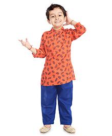 Little Pockets Store Kurta & Pajama Set - Peach