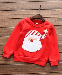 Awabox Santa Applique Christmas Top - Red