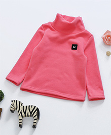 Awabox Fleece High Collar Inner Wear Top - Pink