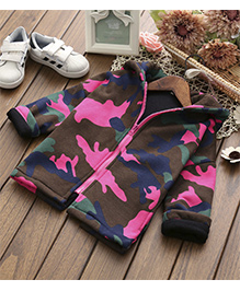 Pre Order - Awabox Fashion Fleece Camouflage Jacket - Brown