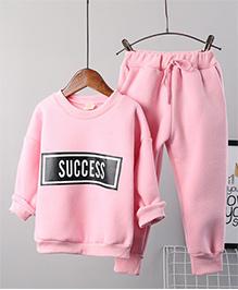 Pre Order - Awabox Warm Fleece Night Suit - Pink