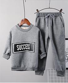 Pre Order - Awabox Warm Fleece Night Suit - Grey