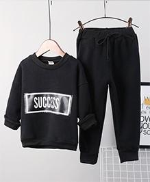 Pre Order - Awabox Warm Fleece Night Suit - Black
