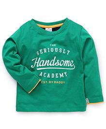 Ollypop Full Sleeves T-Shirt Handsome Print - Green