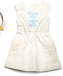 MilkTeeth Sleeveless Ocean Air Print Dress - Off White