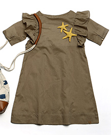 MilkTeeth Seabird Dress - Khaki Brown