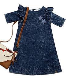 MilkTeeth Seabird Dress - Navy Blue
