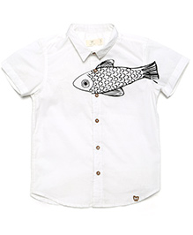 MilkTeeth Boy'S Trout Shirt - White