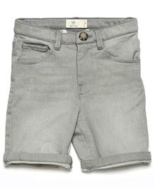 MilkTeeth Boy'S Washed Shorts - Light Grey