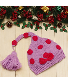 D'chica One Pigtail Cap With A Bow - Pink