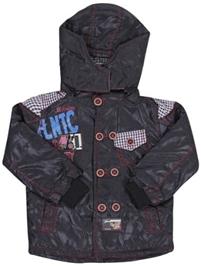 Hooded Full Sleeves Jacket - Marine Print