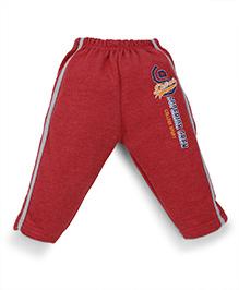 Cucumber Thermal Track Pant Superior Crew Print - Red