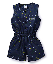 Cucumber Sleeveless Jumpsuit Dots Print - Blue