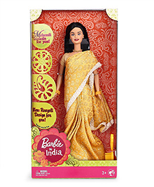 Barbie In India Doll Golden - Height 28 Cm