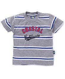 Cucu Fun Half Sleeves T-Shirt Coastal Patch - Grey