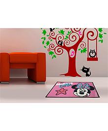 Spaces Disney Cotton Bath Mat Minnie Mouse Print - Pink