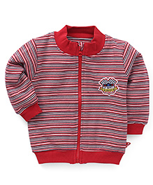 Bodycare Sweat Jacket Stripes Pattern - Red