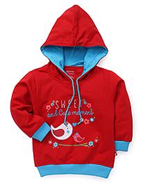 Bodycare Full Sleeves Hooded Sweatshirt - Red