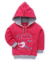 Bodycare Full Sleeves Hooded Sweatshirt - Dark Pink