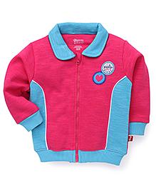 Bodycare Full Sleeves Sweat Jacket - Dark Pink