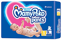 Mamy Poko Pant Style Diapers Small - 9 Pieces