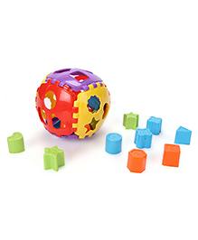 Ratnas Shape Sorter Ball Multi Color - 24 Pieces